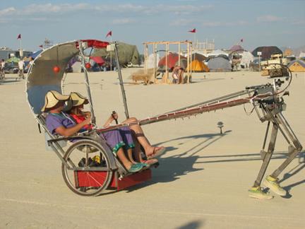 Photo:http://jason.wells.me/wp-content/uploads/2012/05/burning_man_2002_Robotic_Rickshaw.jpg